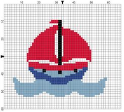 Sailing Boat Counted Cross Stitch Kit